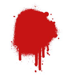 Mancha de pintura salpicadura de sangre