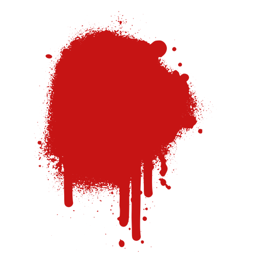 Spot paint blood splatter Transparent PNG