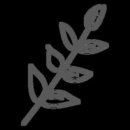 Doodle de la hoja del tallo
