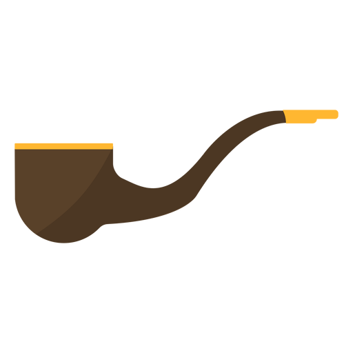 Tabacco pipe flat Transparent PNG