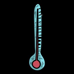 Temperatura do termômetro plana