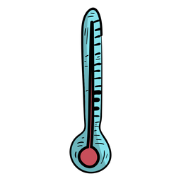 Thermometer temperature flat