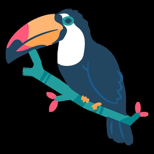 Toucan beak branch flat