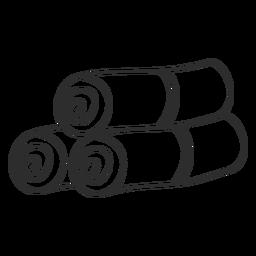 Esboço de doodle de rolo de esteira de toalha