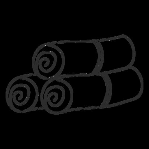 Esboço de doodle de rolo de esteira de toalha Transparent PNG