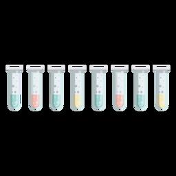 Tubo burbuja burbuja líquido líquido ilustración