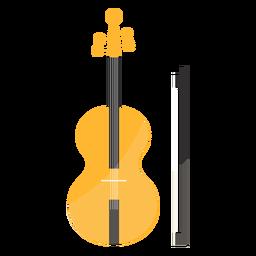 Violin fiddle bow fiddlestick flat