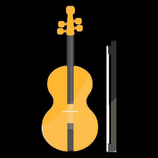 Violin fiddle bow fiddlestick flat Transparent PNG