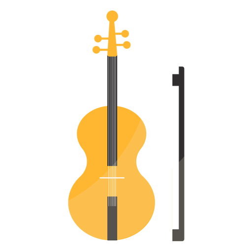 Violino Violino Arco Fiddlestick Flat Transparent PNG