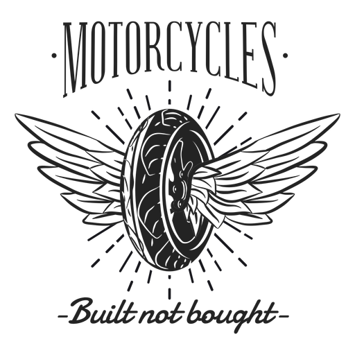 Wheel wing text motocycle motto badge Transparent PNG