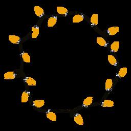 Ilustración de Navidad de bombilla de guirnalda de Navidad