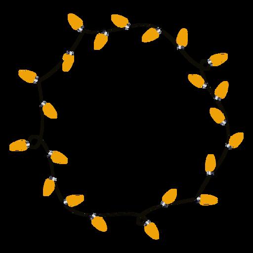 Xmas garland bulb christmas illustration