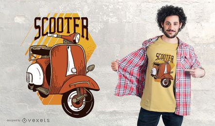 Diseño de camiseta scooter