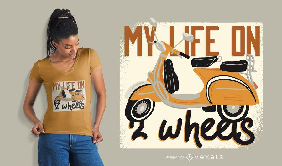 Scooter life t-shirt design