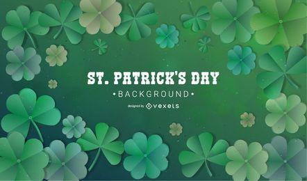 Trevo de Saint Patrick e fundo de trevo