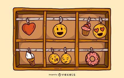 Emoji Charm Box Illustration