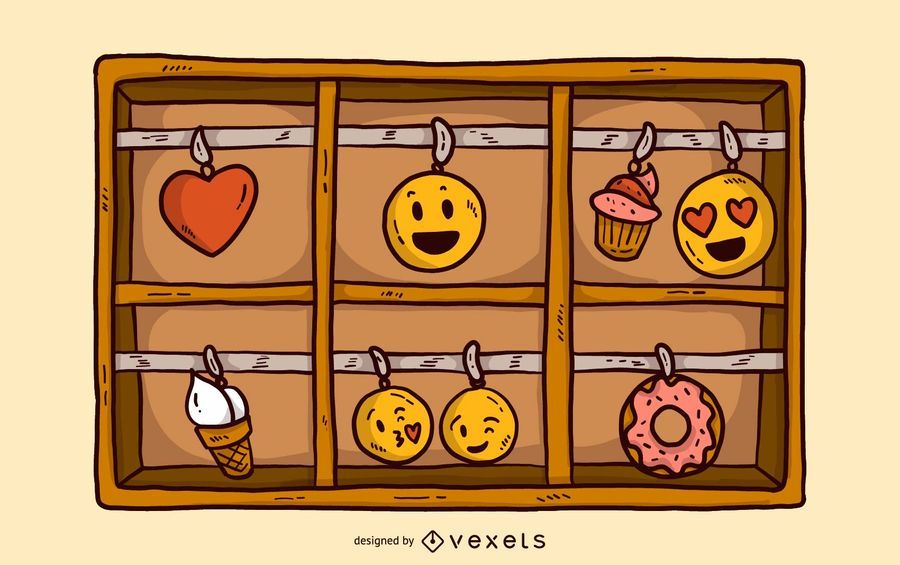 Emoji Charm Box Illustration