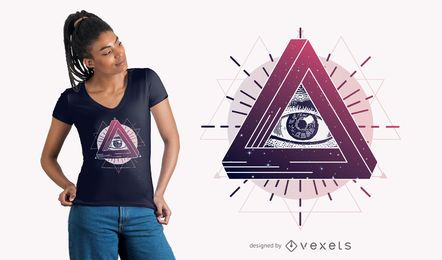 Mystic Eye T-Shirt Design