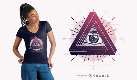 Projeto místico do t-shirt do olho