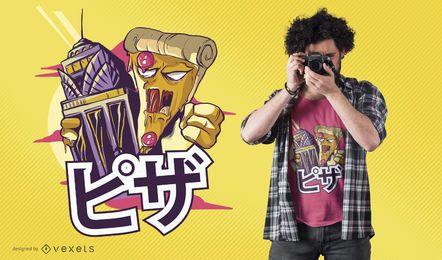Projeto do t-shirt de Kong da pizza