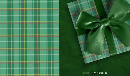 Saint Patrick's Day Checked Pattern