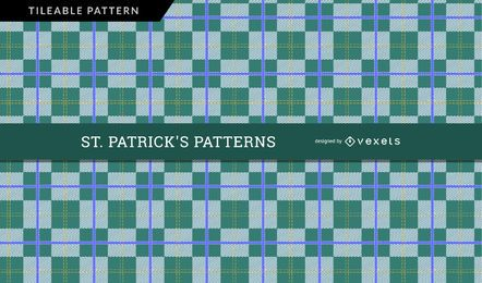 Saint Patrick's Day Checkered Pattern