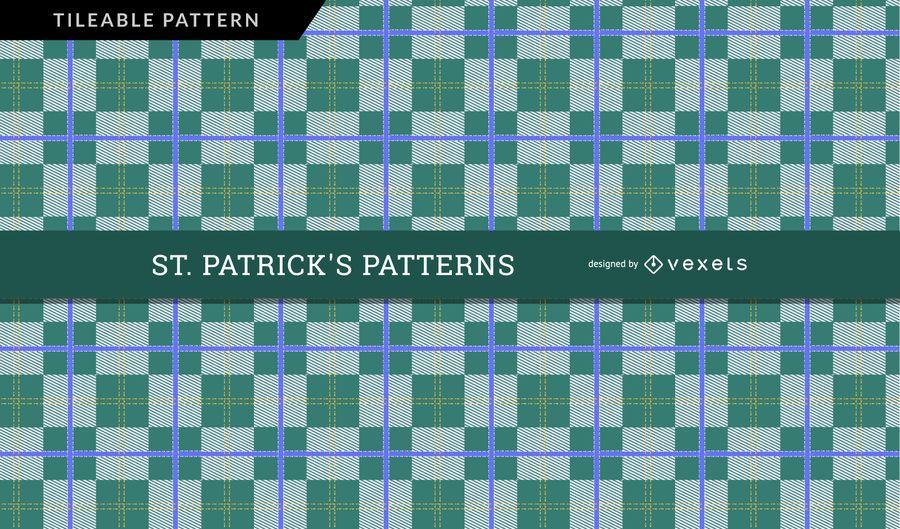Saint Patrick's Day Checkered Pattern