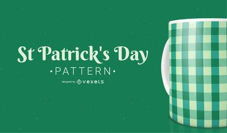Saint Patrick Cross Line Pattern