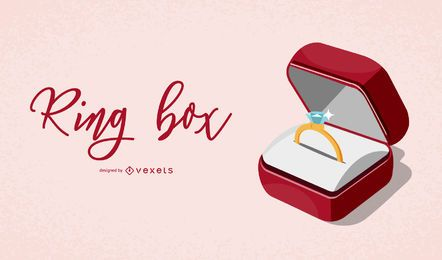Elegante Ring Box Illustration