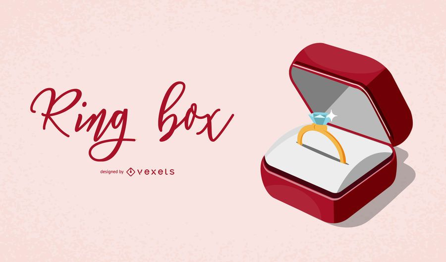 Elegant Ring Box Illustration