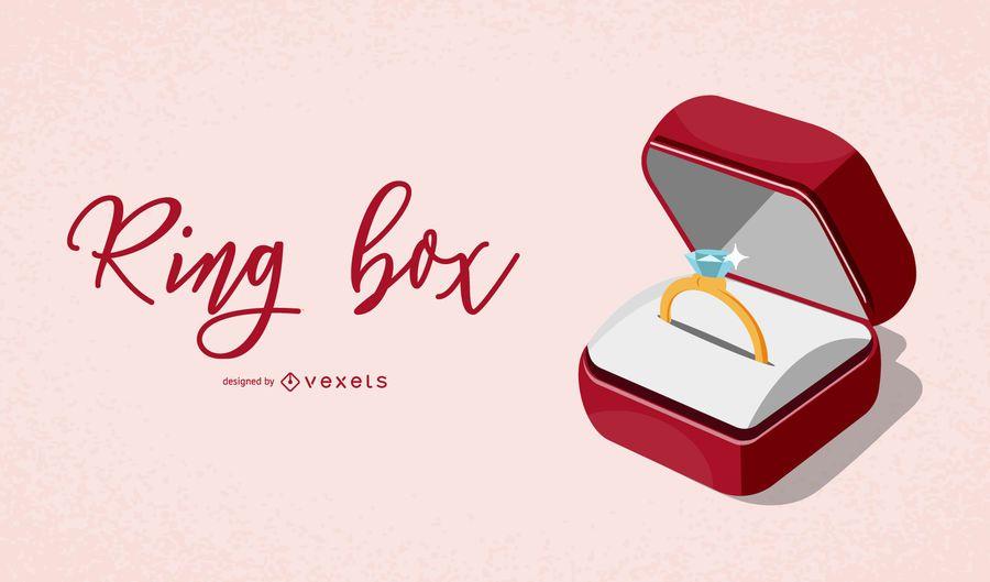 Elegante Ring Box Illustration