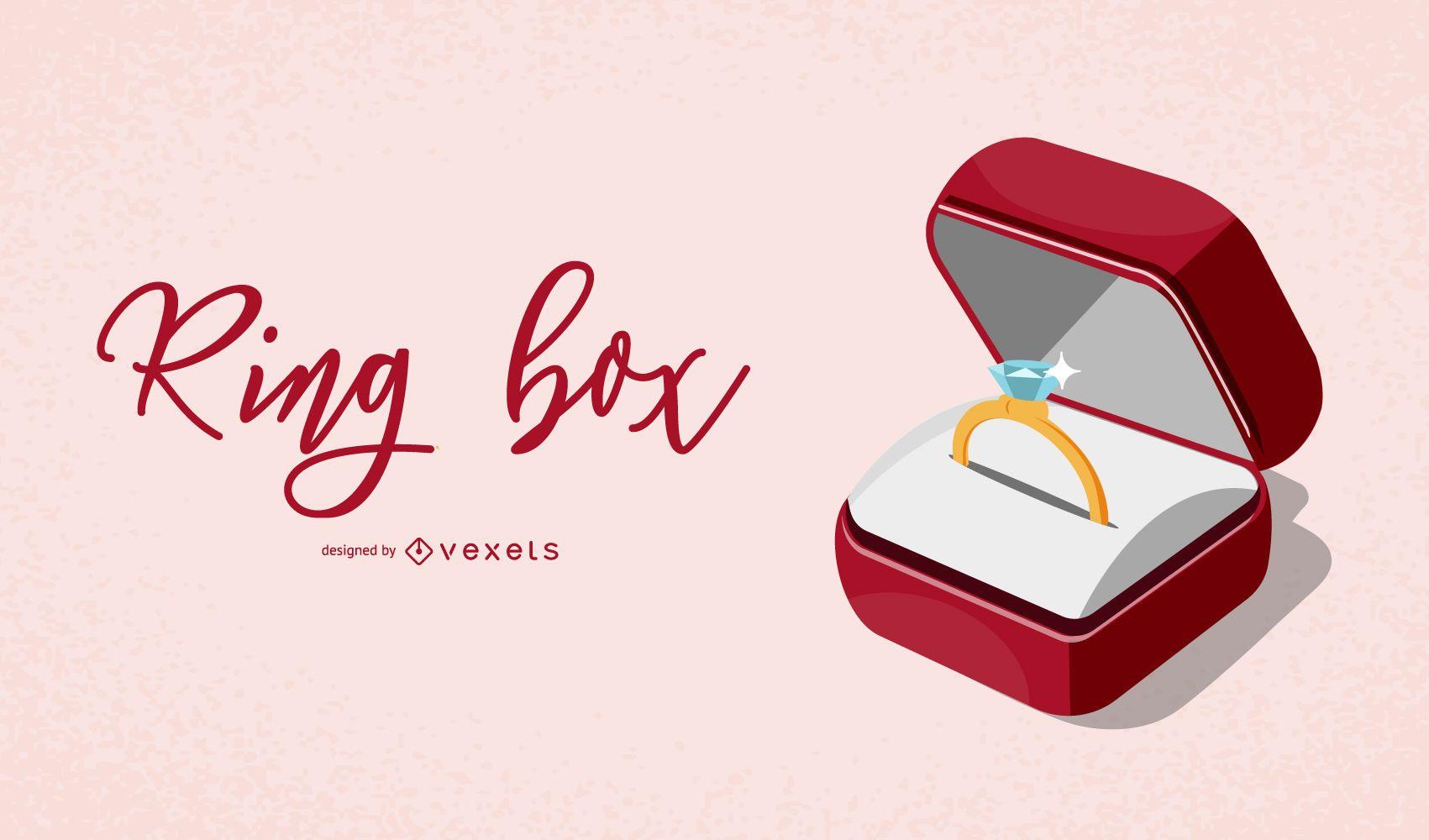 Elegant Ring Box Illustration