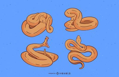 Snake Illustration Set