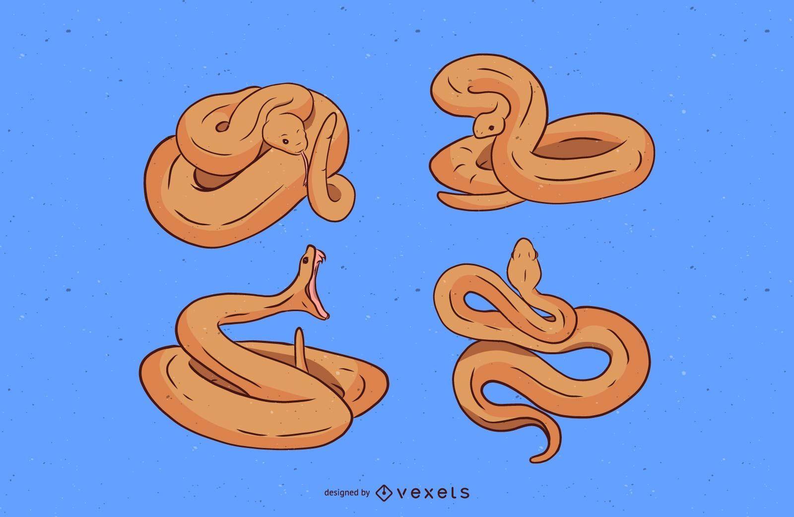 Snake Illustration Set