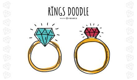 Anillos Doodle Set