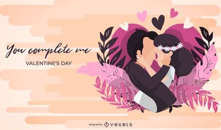 Me completas la ilustración del día de San Valentín