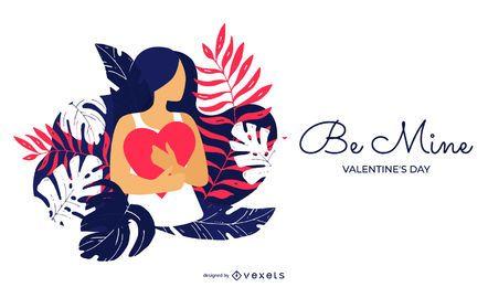 Seien Sie meine Valentinstag-Illustration
