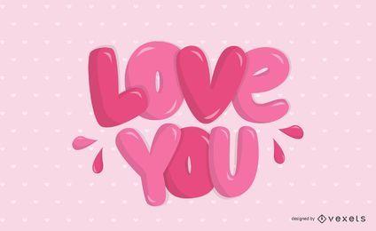 Liebe dich Briefgestaltung