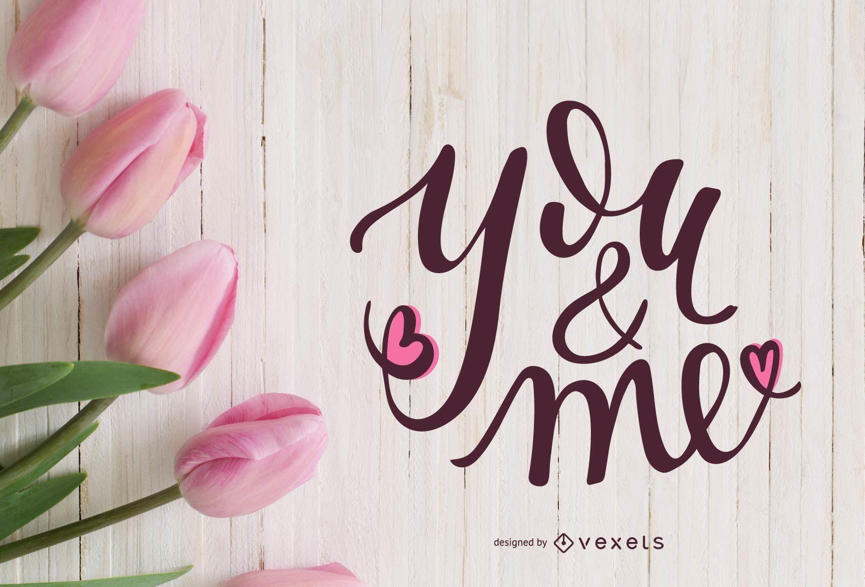 Diseño de letras tú y yo