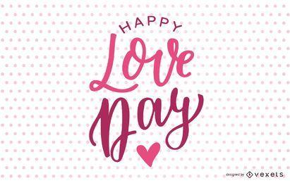 Diseño de letras feliz día de amor