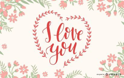 Eu te amo Lettering Design