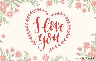 Ich liebe dich Briefgestaltung