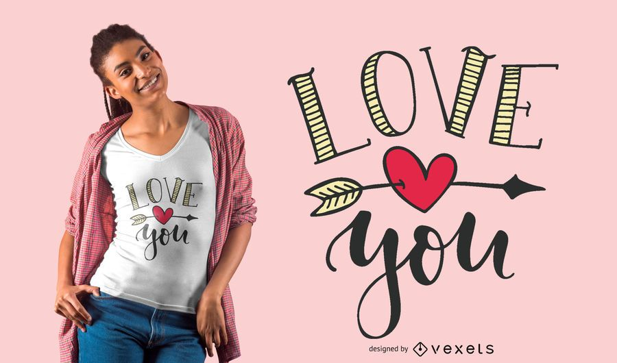 Love You T-shirt Design