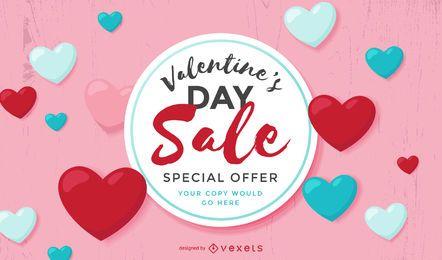 Valentines Sale Template Design