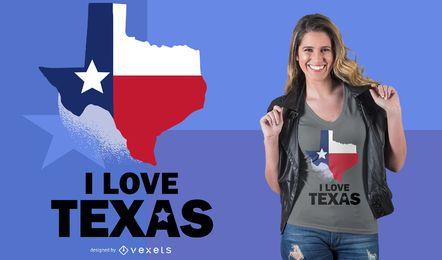 Design do t-shirt de Texas do amor