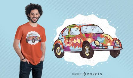 Hippie Auto T-Shirt Design
