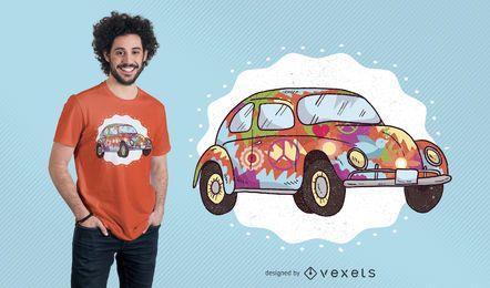 Hippie Auto T-Shirt Design