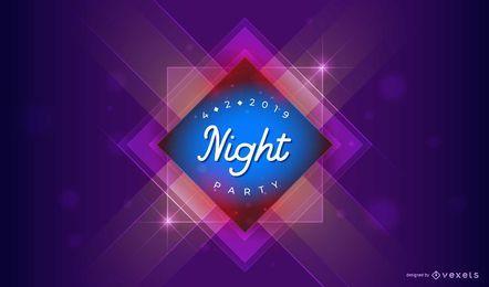 Design de festa à noite