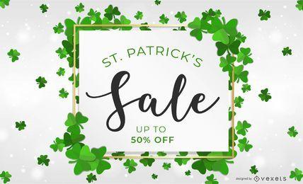 Projeto de venda do dia de Saint Patrick