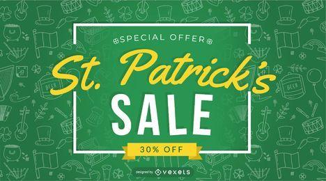 St. Patrick's Sale Sonderangebot Design